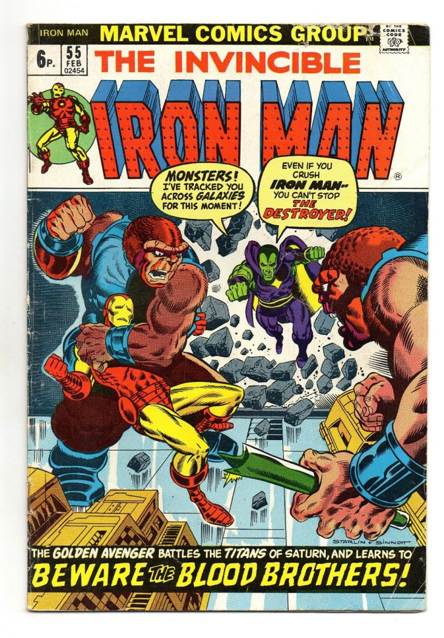 Iron Man #55, 6p Pence Price Variant