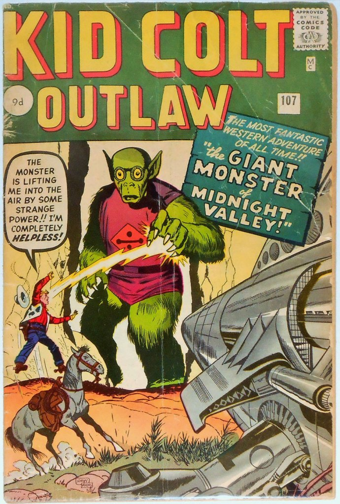 Kid Colt Outlaw #107, 9d Pence Price Variant