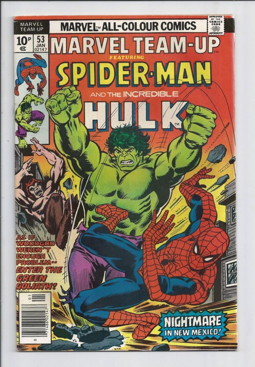 Marvel Team-Up #53, 10p Pence Price Variant