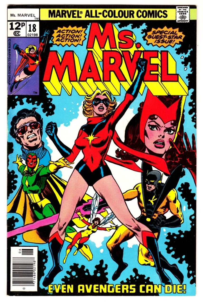 Ms. Marvel #18, 12p Pence Price Variant