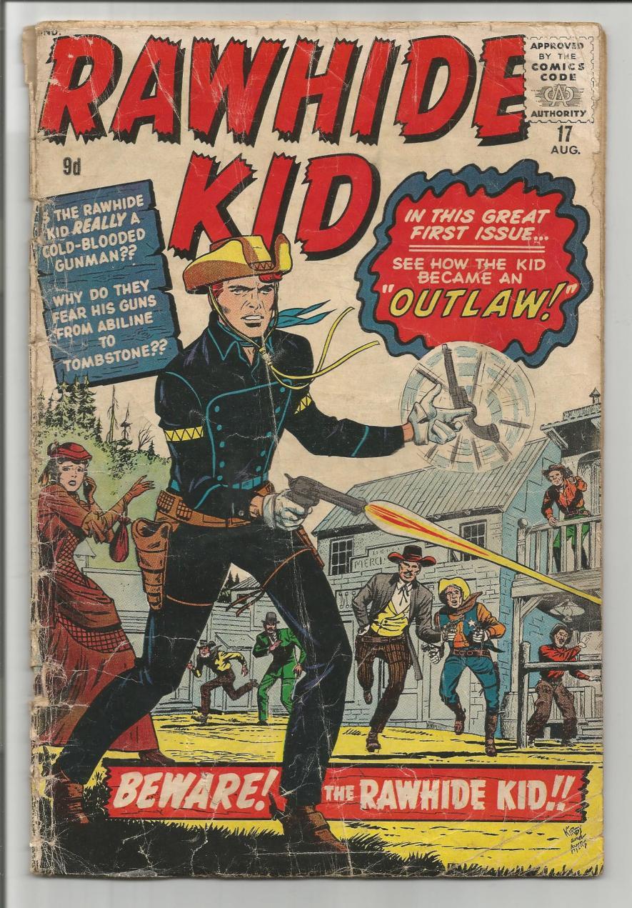Rawhide Kid #17, 9d Pence Price Variant