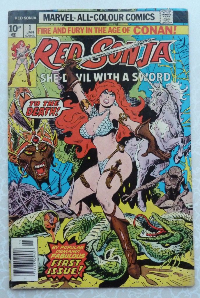 Red Sonja #1, 10p Pence Price Variant