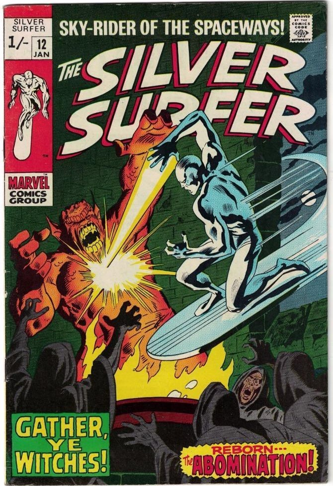 Silver Surfer #12, 1/- Pence Price Variant