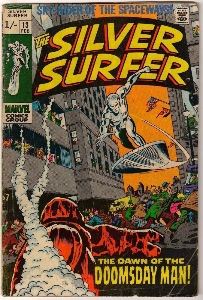 Silver Surfer #13, 1/- Pence Price Variant