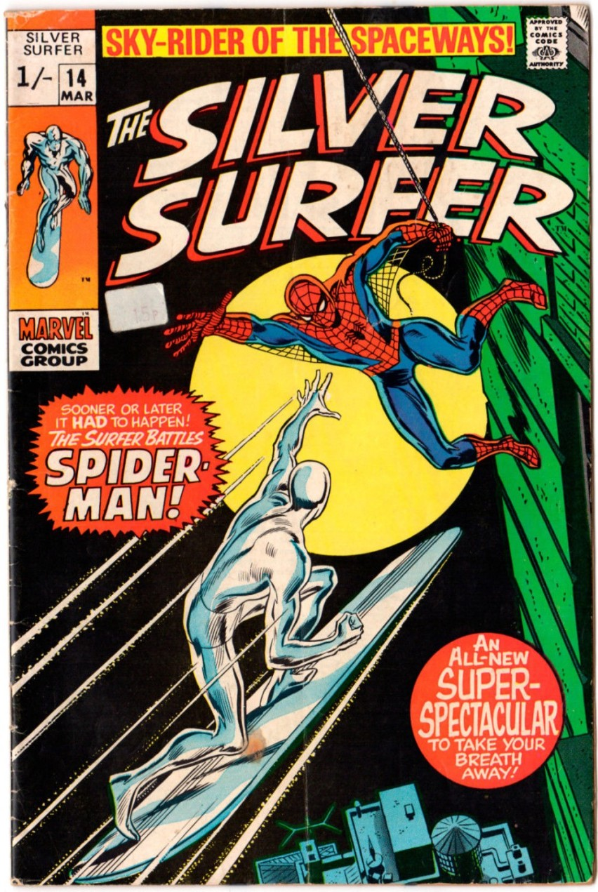 Silver Surfer #14, 1/- Pence Price Variant