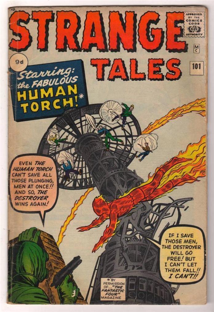 Strange Tales #101, 9d Pence Price Variant