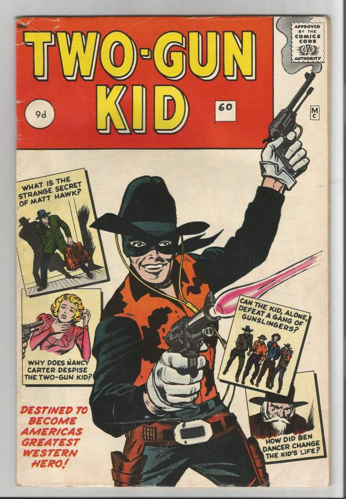Two-Gun Kid #60, 9d Pence Price Variant