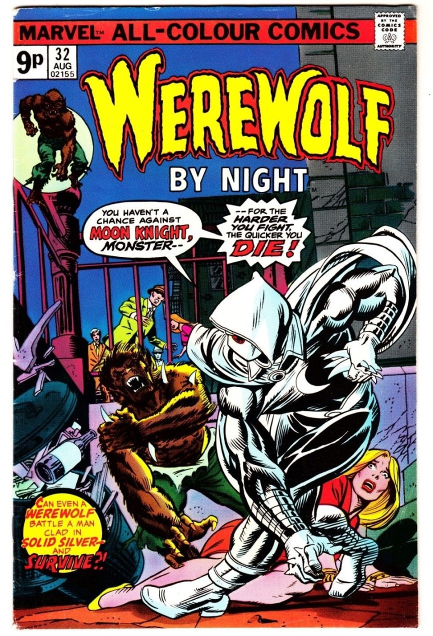 Werewolf By Night #32, 9p Pence Price Variant