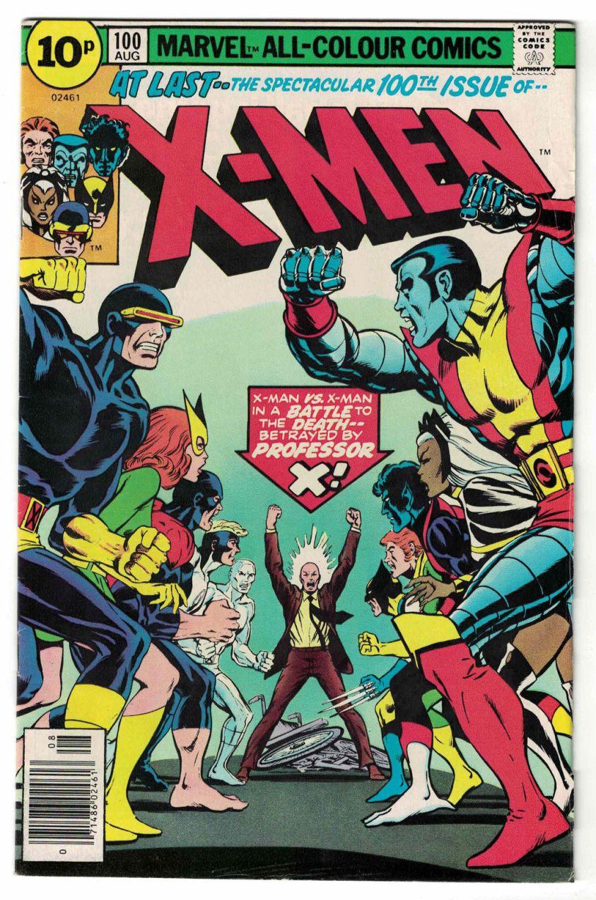 X-Men #100, 10p Pence Price Variant