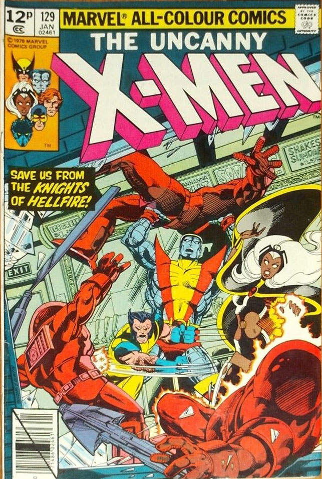 X-Men #129, 12p Pence Price Variant