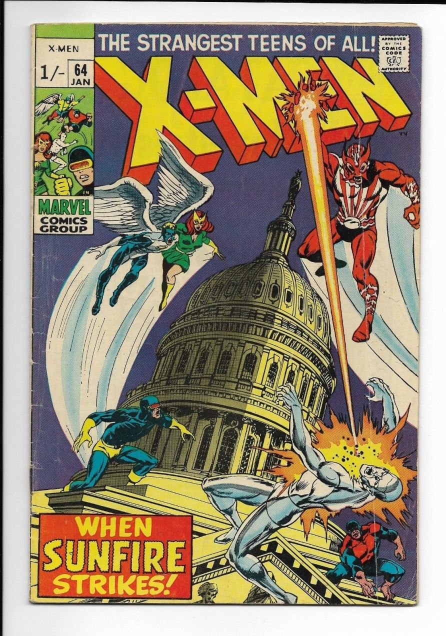 X-Men #64, 1/- Pence Price Variant