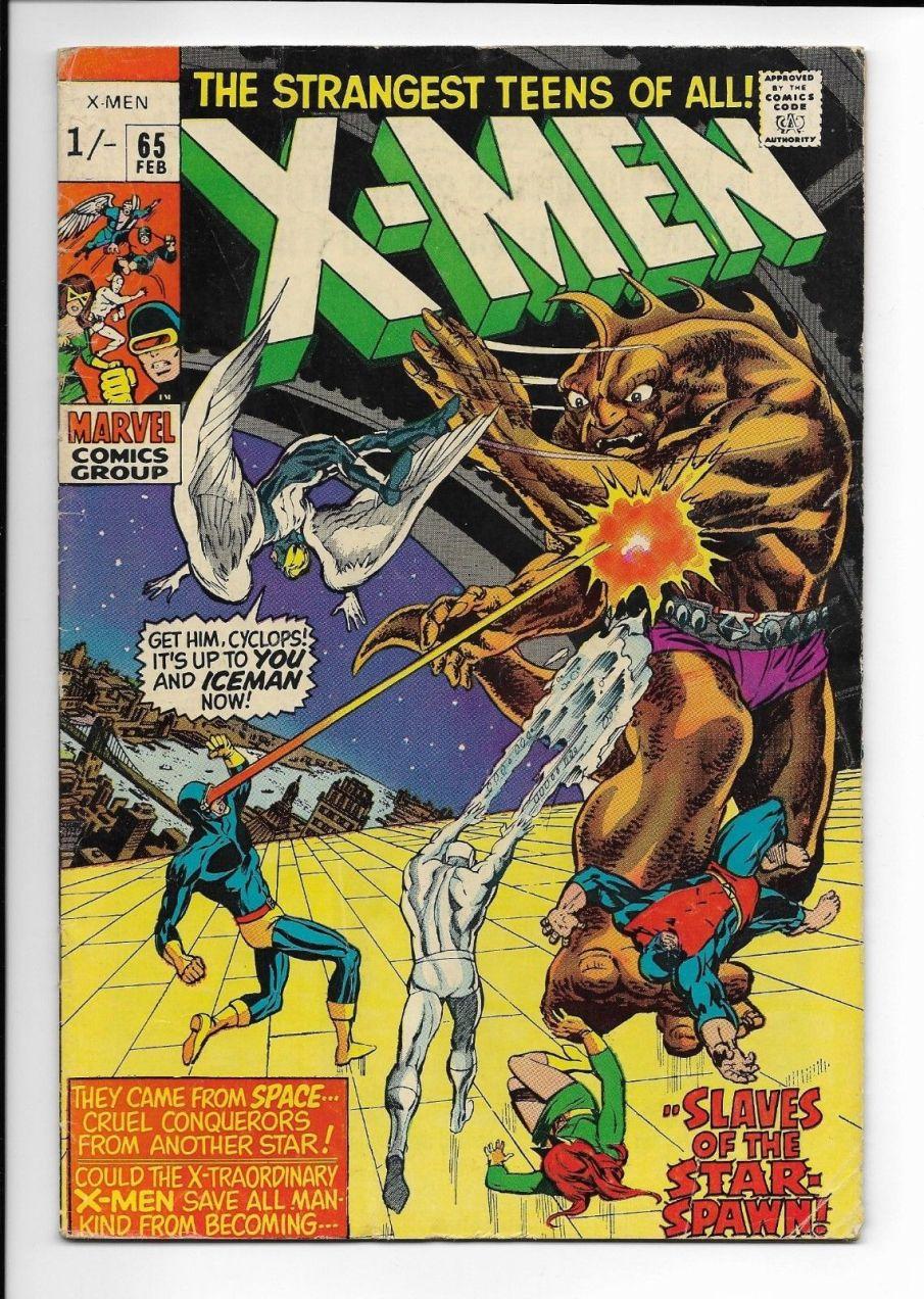 X-Men #65, 1/- Pence Price Variant
