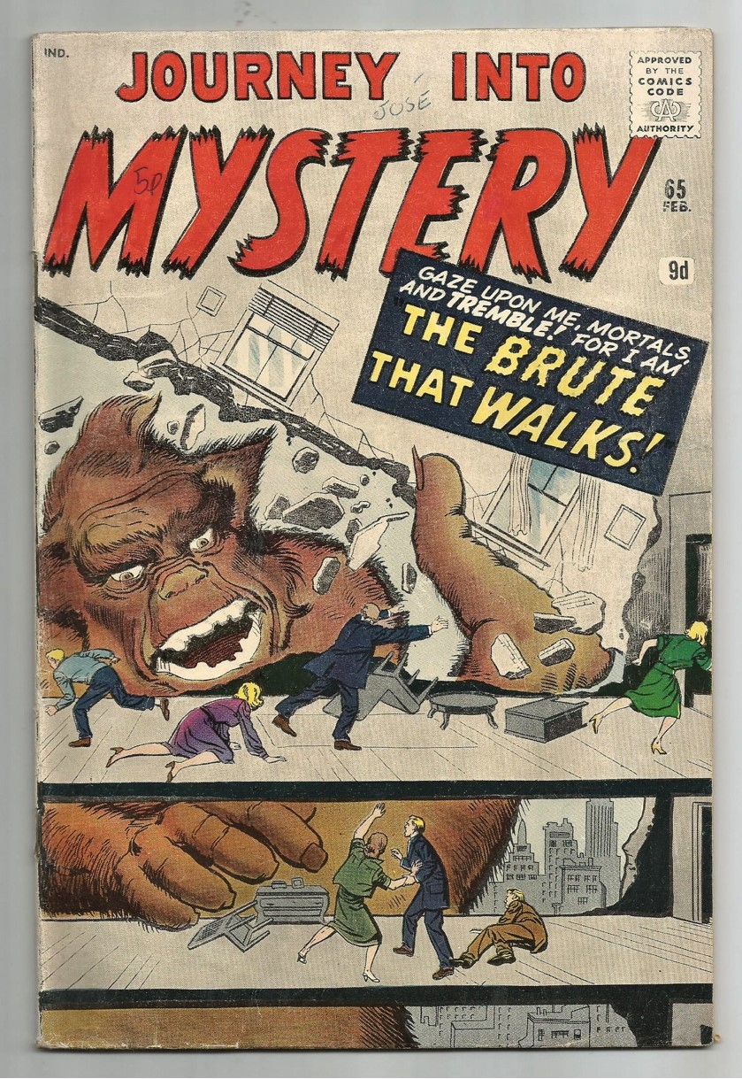 Journey Into Mystery #65, 9d Pence Price Variant
