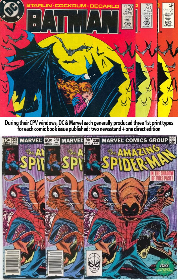 For contrast, when a Marvel or DC Canadian price variant occurred it was one of three types (two single-price newsstand, one multi-price direct edition)