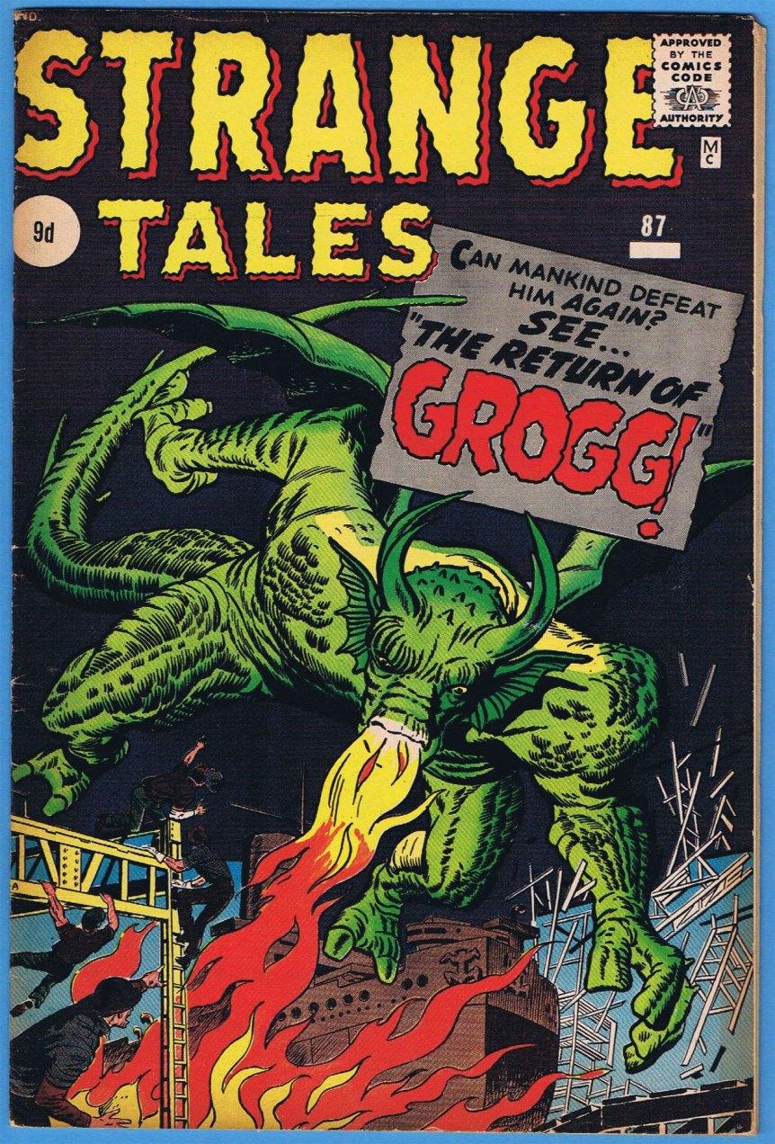 Strange Tales #87, 9d Pence Price Variant