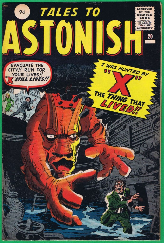 Tales to Astonish #20, 9d Pence Price Variant