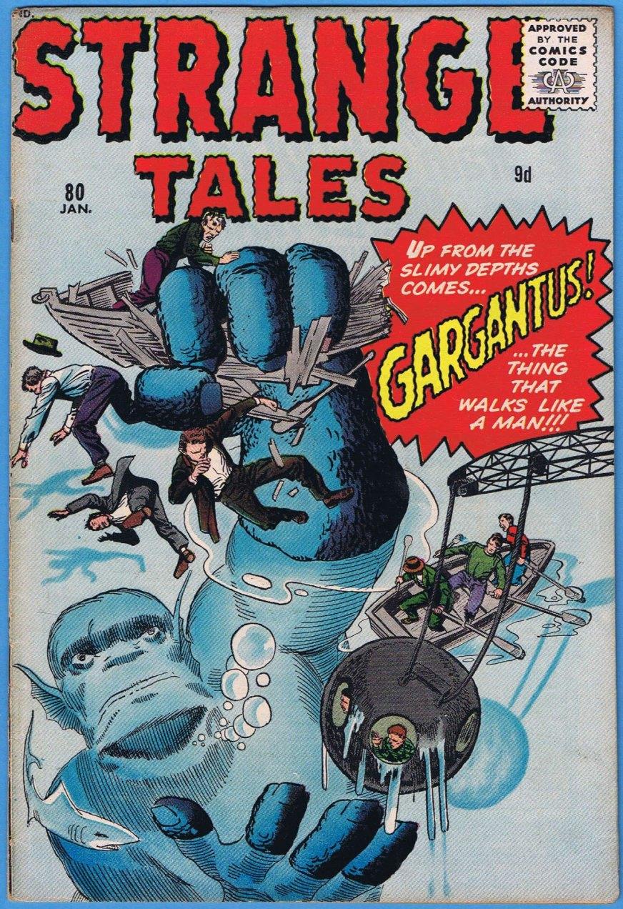 Strange Tales #80, 9d Pence Price Variant
