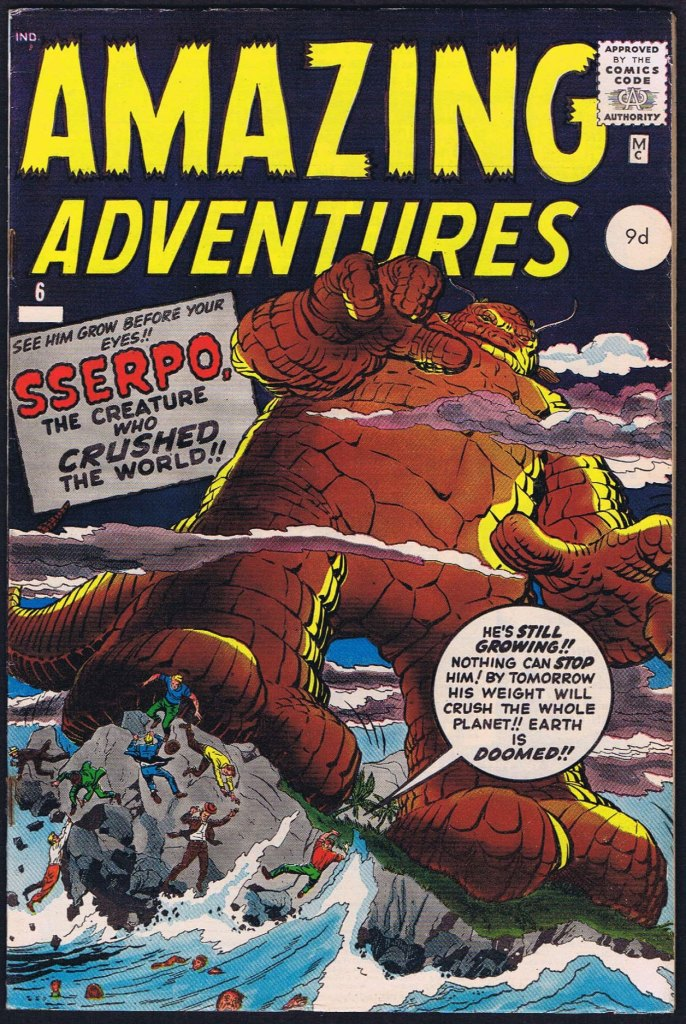 Amazing Adventures #6, 9d Pence Price Variant