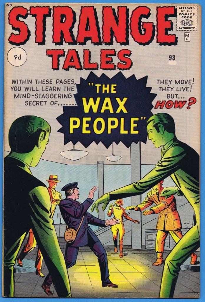 Strange Tales #93, 9d Pence Price Variant
