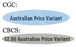 CGC and CBCS now both label APVs as price variants