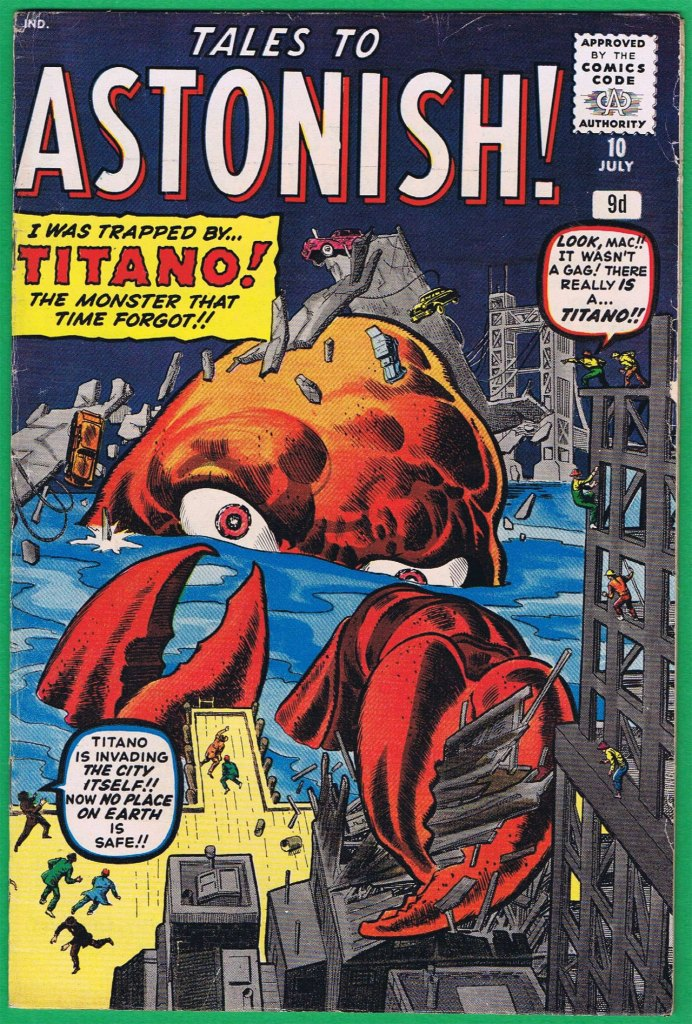 Tales to Astonish #10, 9d Pence Price Variant