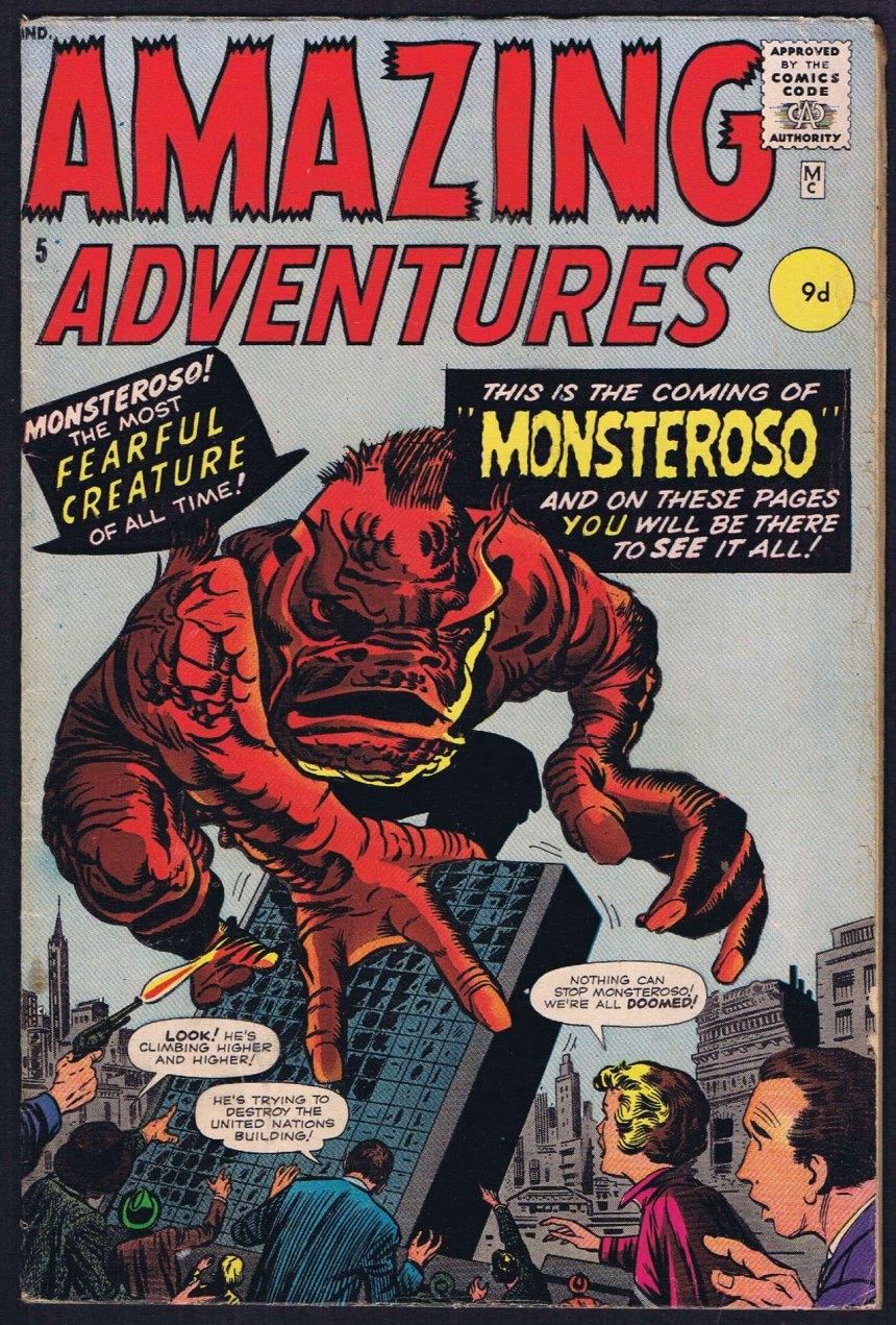 Amazing Adventures #5, 9d Pence Price Variant