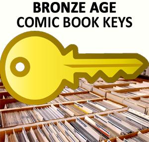 Bronze age comic books: key issues