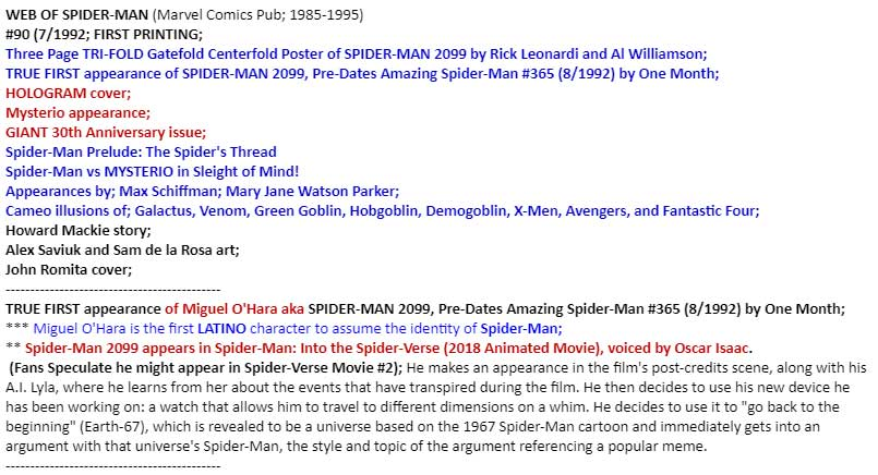 TRUE first appearance of Miguel O'Hara AKA Spider-Man 2099