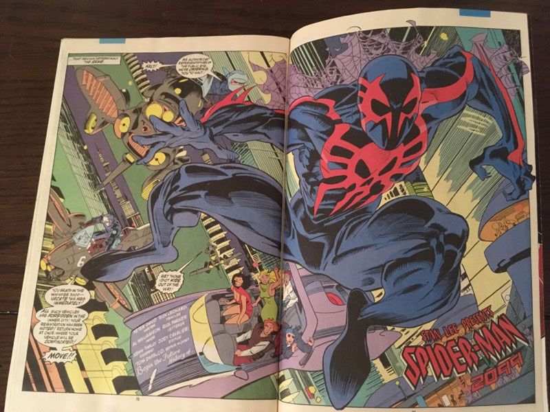 Preview of Spider-Man 2099 first app.