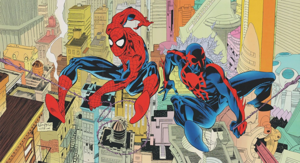 Spider-Man 2099 appears on a 3-page poster inside Web of Spider-Man #90, a month before Amazing Spider-Man #365 was published.